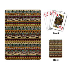 Aztec Pattern Playing Card