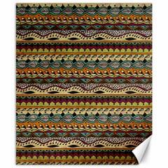 Aztec Pattern Canvas 8  X 10  by BangZart