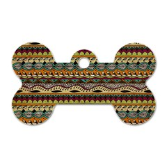 Aztec Pattern Dog Tag Bone (two Sides) by BangZart