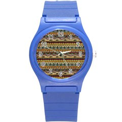 Aztec Pattern Round Plastic Sport Watch (s) by BangZart