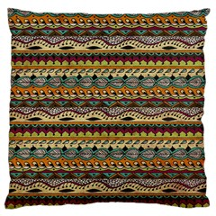 Aztec Pattern Large Cushion Case (two Sides) by BangZart