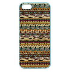 Aztec Pattern Apple Seamless Iphone 5 Case (color)