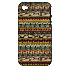 Aztec Pattern Apple Iphone 4/4s Hardshell Case (pc+silicone) by BangZart