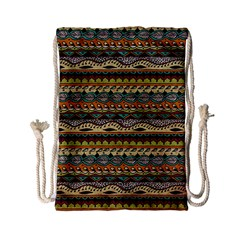 Aztec Pattern Drawstring Bag (small)