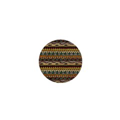 Aztec Pattern 1  Mini Buttons