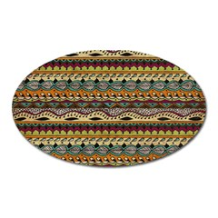 Aztec Pattern Oval Magnet by BangZart