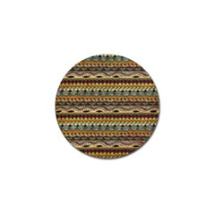 Aztec Pattern Golf Ball Marker by BangZart