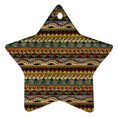 Aztec Pattern Star Ornament (two Sides) by BangZart