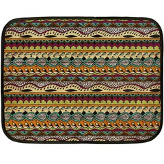 Aztec Pattern Fleece Blanket (mini) by BangZart
