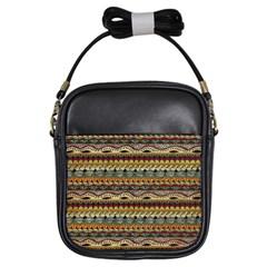 Aztec Pattern Girls Sling Bags by BangZart