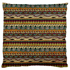 Aztec Pattern Large Flano Cushion Case (two Sides)