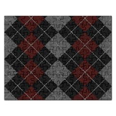 Wool Texture With Great Pattern Rectangular Jigsaw Puzzl
