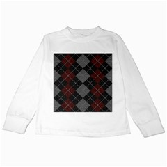 Wool Texture With Great Pattern Kids Long Sleeve T Shirts