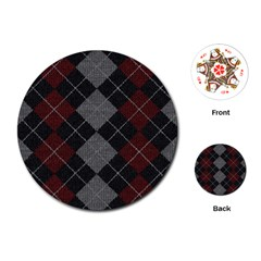 Wool Texture With Great Pattern Playing Cards (round)  by BangZart