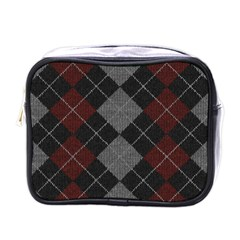Wool Texture With Great Pattern Mini Toiletries Bags by BangZart