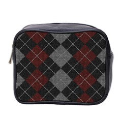 Wool Texture With Great Pattern Mini Toiletries Bag 2 Side