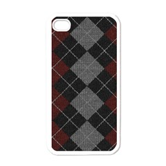Wool Texture With Great Pattern Apple Iphone 4 Case (white)