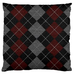 Wool Texture With Great Pattern Large Flano Cushion Case (two Sides) by BangZart