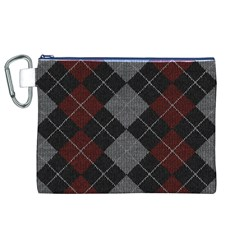 Wool Texture With Great Pattern Canvas Cosmetic Bag (xl) by BangZart