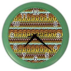Bohemian Fabric Pattern Color Wall Clocks