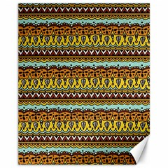Bohemian Fabric Pattern Canvas 11  X 14