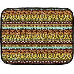 Bohemian Fabric Pattern Fleece Blanket (mini) by BangZart