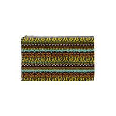 Bohemian Fabric Pattern Cosmetic Bag (small)