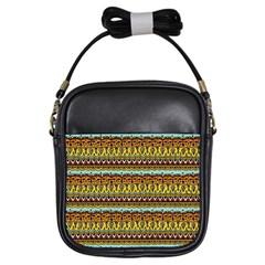 Bohemian Fabric Pattern Girls Sling Bags by BangZart