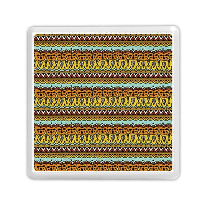 Bohemian Fabric Pattern Memory Card Reader (Square)