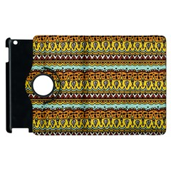 Bohemian Fabric Pattern Apple Ipad 3/4 Flip 360 Case by BangZart