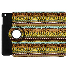 Bohemian Fabric Pattern Apple Ipad Mini Flip 360 Case by BangZart