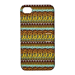 Bohemian Fabric Pattern Apple Iphone 4/4s Hardshell Case With Stand