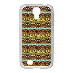 Bohemian Fabric Pattern Samsung Galaxy S4 I9500/ I9505 Case (white)