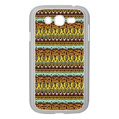 Bohemian Fabric Pattern Samsung Galaxy Grand Duos I9082 Case (white) by BangZart