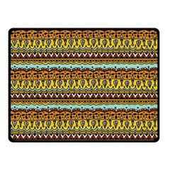 Bohemian Fabric Pattern Double Sided Fleece Blanket (small)  by BangZart