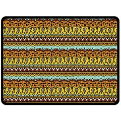 Bohemian Fabric Pattern Double Sided Fleece Blanket (large)