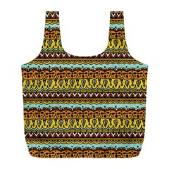 Bohemian Fabric Pattern Full Print Recycle Bags (l)  by BangZart