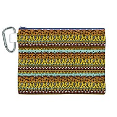 Bohemian Fabric Pattern Canvas Cosmetic Bag (xl) by BangZart