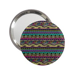 Aztec Pattern Cool Colors 2 25  Handbag Mirrors