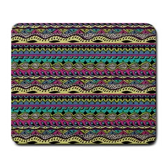 Aztec Pattern Cool Colors Large Mousepads by BangZart