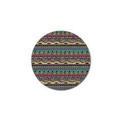 Aztec Pattern Cool Colors Golf Ball Marker by BangZart