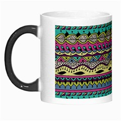 Aztec Pattern Cool Colors Morph Mugs by BangZart