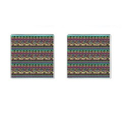 Aztec Pattern Cool Colors Cufflinks (square) by BangZart