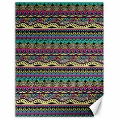 Aztec Pattern Cool Colors Canvas 12  X 16