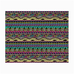 Aztec Pattern Cool Colors Small Glasses Cloth (2 Side) by BangZart