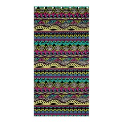 Aztec Pattern Cool Colors Shower Curtain 36  X 72  (stall)  by BangZart