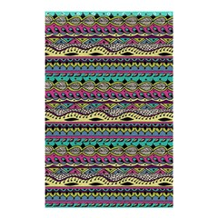 Aztec Pattern Cool Colors Shower Curtain 48  X 72  (small)  by BangZart