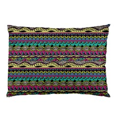 Aztec Pattern Cool Colors Pillow Case (two Sides) by BangZart
