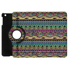 Aztec Pattern Cool Colors Apple Ipad Mini Flip 360 Case by BangZart