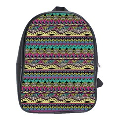 Aztec Pattern Cool Colors School Bags (xl)  by BangZart